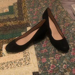 A new day black wedge shoes